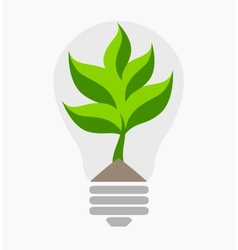 Green energy Ecological concept vector image