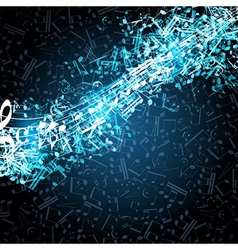 Notes musical background vector image vector image