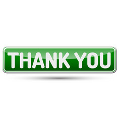 thank you - abstract beautiful button with text vector image