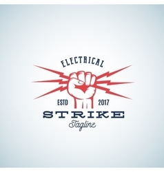 Electrical strike power abstract emblem or vector