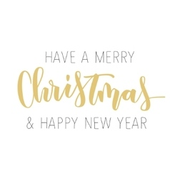 Merry Christmas hand written inscription vector image