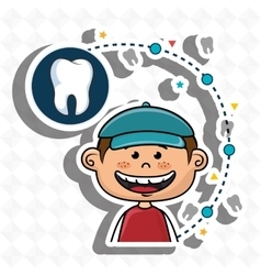 Smiling child dental careboy with a cap vector image
