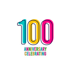100 years kids anniversary celebrating template vector