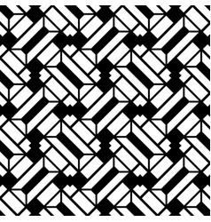 Abstract black and white geometric pattern vector