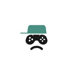 angry kid logo vector image