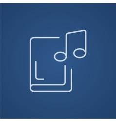 Audio book line icon vector image vector image