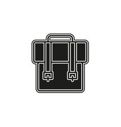 backpack icon - school symbol - travel icon vector image