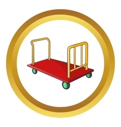 Baggage cart icon vector