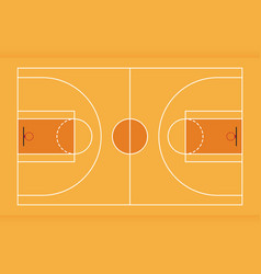 basketball court from top view flat design vector image