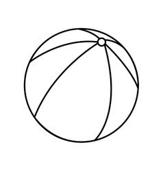 beach balloon air isolated icon vector image