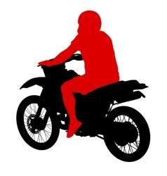 Black silhouettes sport bike on white background vector