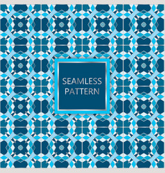 Blue seamless pattern with silver inserts vector