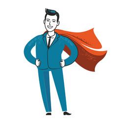 Businessman superhero business success vector