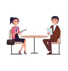 Businessperson man and woman dressed in formal vector