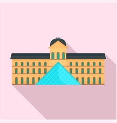 central paris building museum icon flat style vector image