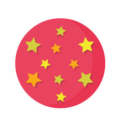 Circus balloon plastic with stars vector