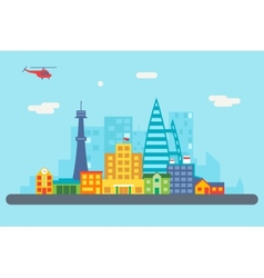 City Street Landscape Real Estate Skyscrapers vector