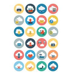 Cloud Computing Flat Icons 1 vector