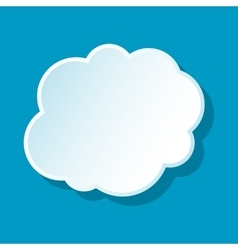 Cloud on sky icon vector image