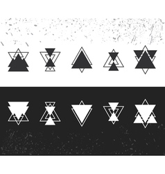 Collection of trendy geometric shapes Geometric vector image