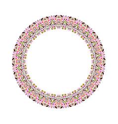 Colorful floral border - circular round element vector