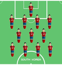Computer game South Korea Football club player vector