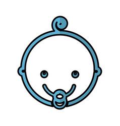 Cute baby head icon vector
