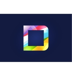 D letter logo icon symbol vector image