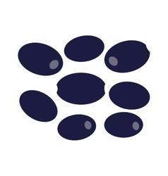 Dark olives on a white background vector image