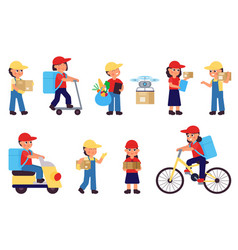 delivery man job for young food logistic workers vector image
