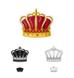 Design medieval and nobility symbol set vector