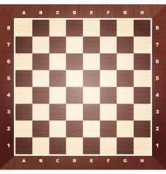 Empty chess board vector