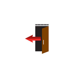 exit door vector image