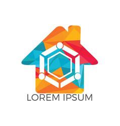 family home logo vector image