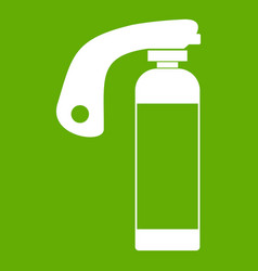 fire extinguisher icon green vector image