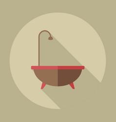 Flat modern design with shadow icons bathtub vector
