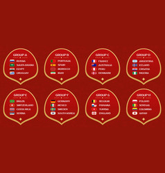 Football world cup groups vector