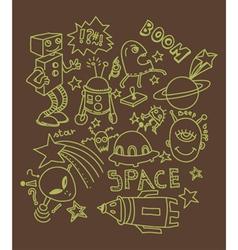Funny doodles vector