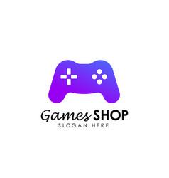 Games store logo icon design template game shop vector