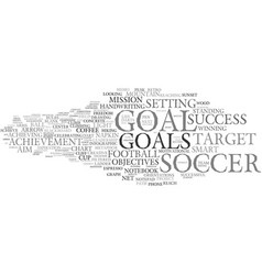 Goal word cloud concept vector