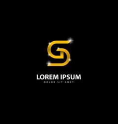 Gold letter gd logo gd letter design with golden vector