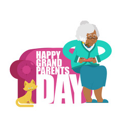grandparents day day of grandmother and vector image