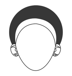 Head of woman with headband icon vector