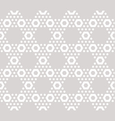 Hexagons texture subtle seamless pattern beige vector