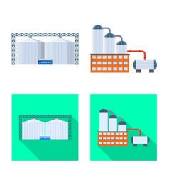 Isolated object production and structure icon vector