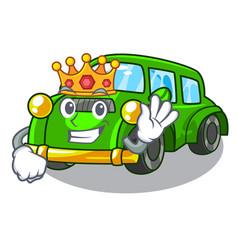 King classic car toys in cartoon shape vector