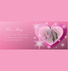 love story which is a form greeting cards vector image