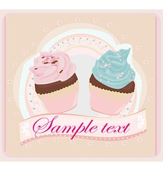 Lovely Cupcakes Design vector image