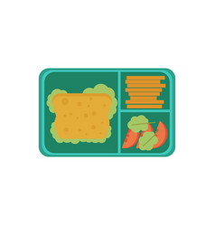 Lunchbox with snacks vegetables vector