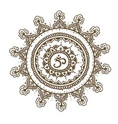Mandala om Round Ornament Pattern Vintage vector image